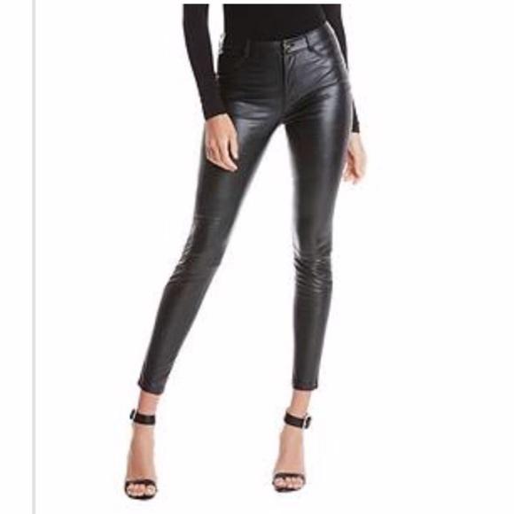 factory price size 40 cozy fresh Marciano Pants   Highwaist Vegan Leather   Poshmark